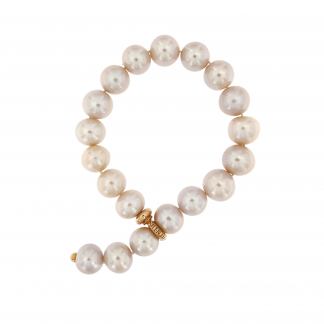 Bracciale in perle fresh water con chiusura in oro rosa 18 kt.