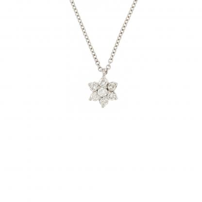 Girocollo in oro bianco 18 kt con diamanti GVS.