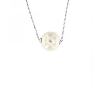 Pendente in oro bianco o rosa 18kt con perla south sea