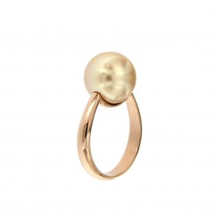 Anello in oro rosa 18kt con perla south sea gold