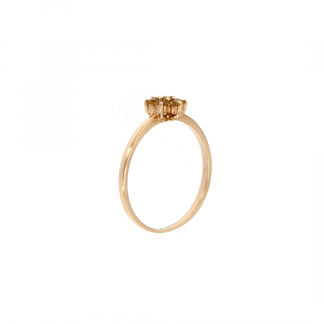 Anello in oro rosa 18kt con citrino 1,75-2mm