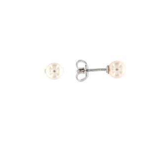 Orecchini in oro bianco 18kt con perle akoya 5,5-6mm