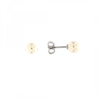Orecchini in oro bianco 18kt con perle akoya 6-6,5mm