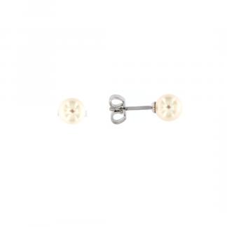 Orecchini in oro bianco 18kt con perle akoya 6,5-7mm