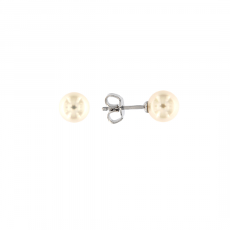 Orecchini in oro bianco 18kt con perle akoya 7,5-8mm