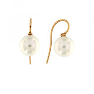 Orecchini in oro rosa 18kt con perle south sea 11-12mm