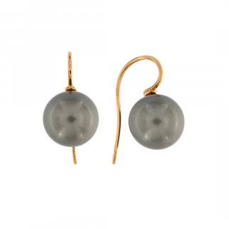 Orecchini in oro rosa 18kt con perle tahiti 12-13mm